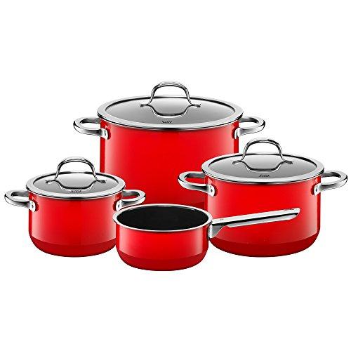 silit topf set 4 teilig fleischtopf stielkasserolle passion red sch ttrand made in germany. Black Bedroom Furniture Sets. Home Design Ideas